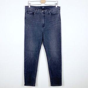 Hudson Barbara Gray High Rise Super Skinny Jeans